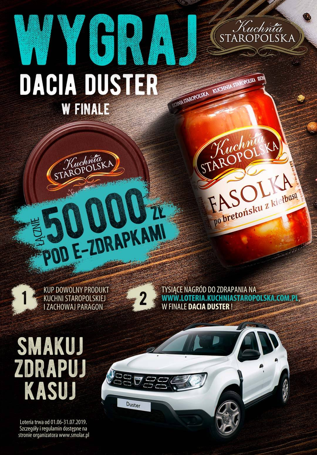 Smakuj Zdrapuj Kasuj: rusza loteria Kuchni Staropolskiej